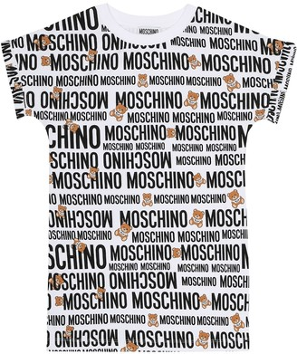 MOSCHINO BAMBINO Printed cotton T-shirt dress