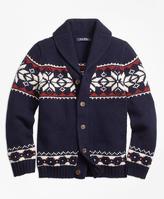 Brooks Brothers Wool Blend Fair Isle Cardigan