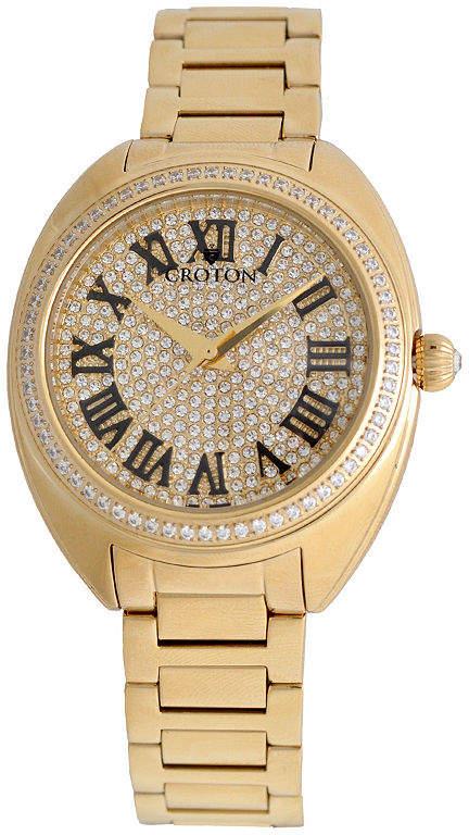 Croton Womens Gold Tone Bracelet Watch-Cn207564ylpv