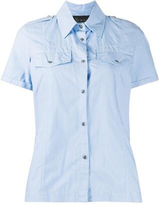 Mr & Mrs Italy Pleat-Detail Short Sleeve Shirt