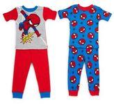 AME Sleepwear Baby's Four-Piece Spider-Man Pajama Set