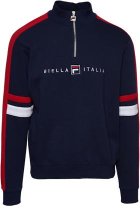Fila Romolo 1/2 Zip Sweatshirt - Peacoat / Chinese Red / White