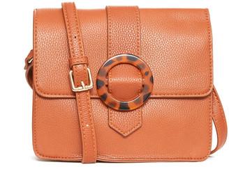 Moda Luxe Tortoise Ring Detail Crossbody Bag Tan 1 Size