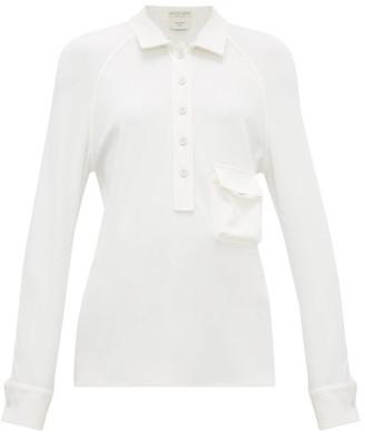 Bottega Veneta Long-sleeved Half-placket Top - Womens - White
