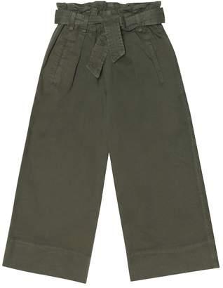 Brunello Cucinelli Kids Belted stretch-cotton twill pants