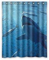 "JIDUIDODO International BLACKOUT&BREATHBLE custom Shark Window Curtain for Living Room, Bedroom, and Kids Rooms Polyester plantation shutters 52""x63""(One Piece)"
