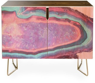 Deny Designs Emanuela Carratoni Serenity and Rose Agate With Amethyst Crystals Credenza