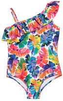 Milly Minis Banana Leaf One-Piece Swimsuit, Multicolor, Size 4-7
