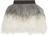 Just Cavalli Ombré feather mini skirt