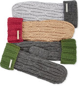 MICHAEL Michael Kors Rib Cable Colorblock Mittens