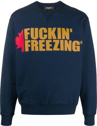 DSQUARED2 Slogan And Logo Print Sweatshirt