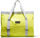 adidas by Stella McCartney Canvas-trimmed neon coated-PVC swim tote