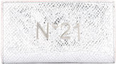 No.21 logo plaque high shine wallet - women - Leather - One Size