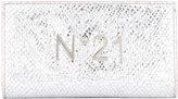 No.21 logo plaque high shine wallet