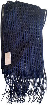 Chloã© ChloA Blue Polyester Scarves