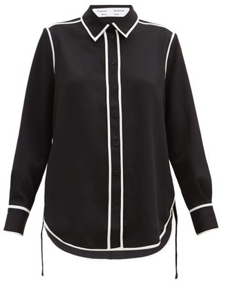 Proenza Schouler White Label Contrast-piping Pique Shirt - Black