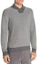 Brooks Brothers Waffle Knit Shawl Collar Sweater