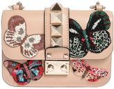 Valentino Small Lock Butterfly Patches Leather Bag