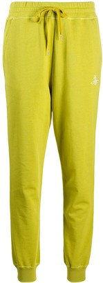 Vivienne Westwood Embroidered Logo Organic Cotton Track Pants