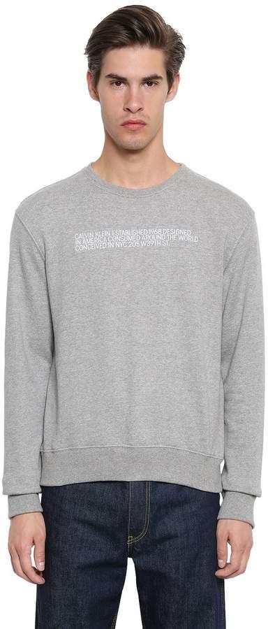 Calvin Klein Embroidered Cotton Sweatshirt