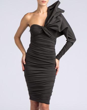 Lanvin Asymmetrical Draped Dress