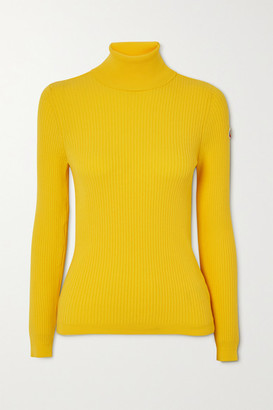 Fusalp Ancelle Ribbed-knit Turtleneck Sweater - Yellow