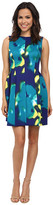 Calvin Klein Fit & Flare Printed Scuba Dress