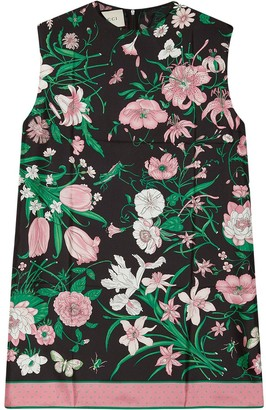 Gucci Sleeveless Floral Tunic Top