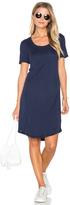 Splendid Codette Mini Variegated Rib Stripe T Shirt Mini Dress