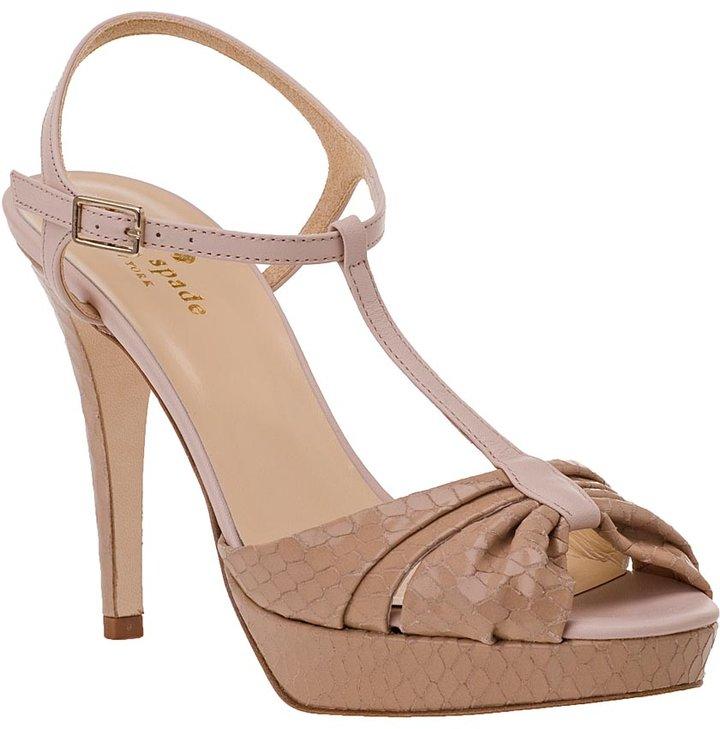 Kate Spade Garb Platform Sandal Sand Leather