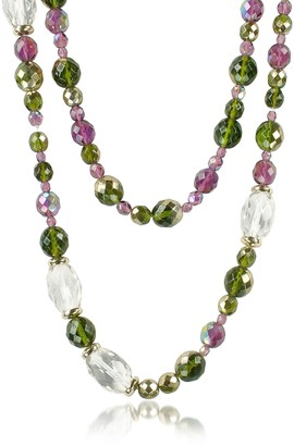 A-Z Collection Double Beaded Long Chain Necklace