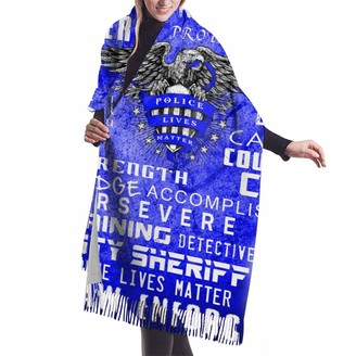 Rcivdkem Thin Usa Flag Police Officer Blue Women Scarves Warm Stole Bridal Winter Warm Thick Scarves Warm Soft Scarves