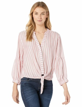 Michael Stars Women's Catalina Kendra tie Front Striped top