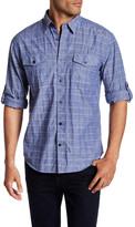 James Campbell Serif Long Sleeve Printed Regular Fit Woven Shirt