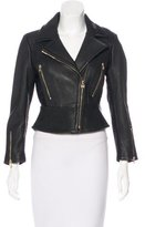 Herve Leger Leather Moto Jacket