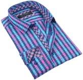 Coogi Checker Tailor Fit Dress Shirt