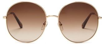 Chloé Round Metal Sunglasses - Brown Gold