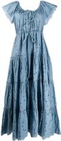 Innika Choo tiered cotton maxi dress