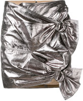 Isabel Marant metallic skirt - women - Cotton/Lamb Skin - 36