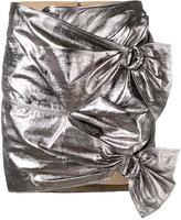 Isabel Marant metallic skirt - women - Lamb Skin/Cotton - 40