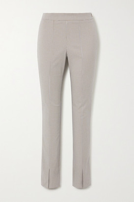 HOLZWEILER Sira Checked Cotton-blend Skinny Pants - Gray