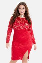 Fashion to Figure Mina Slit Lace Bodycon Dress
