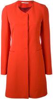 Tagliatore scoop neck mid coat - women - Polyester/Spandex/Elastane/Cupro - 40