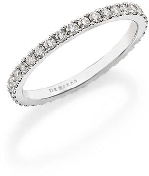 De Beers Classic Diamond & Platinum Full Eternity Band Ring
