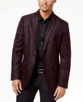 INC International Concepts Men's Slim-Fit Leopard Flocked Blazer, Created for Macy's