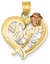 goldia 14k Two-tone Gold W/rhodium Mom Charm