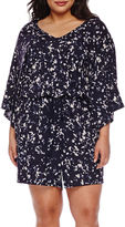 Boutique + Boutique+ Knit Kimono Romper - Plus