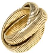 Janis Savitt High Polished Gold Large Triple Cobra Bracelet