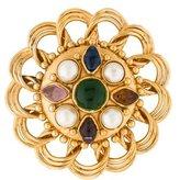 Chanel Faux Pearl Gripoix Oversized Brooch Pendant