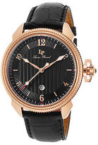 Lucien Piccard 40053-RG-01 Men's Trevi Black Genuine Leather and Dial